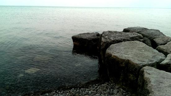 Rocks on the water - Coronation Park, Oakville, ON