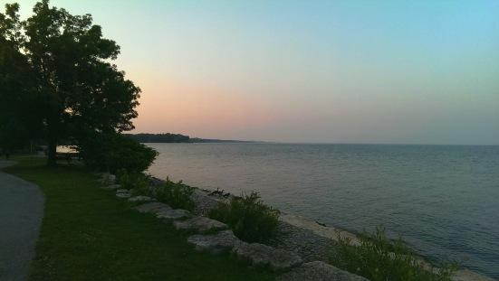 Sunset on the lake - Coronation Park, Oakville, ON